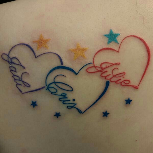 Like This A Lot Tattoos With Kids Names Little Heart Tattoos