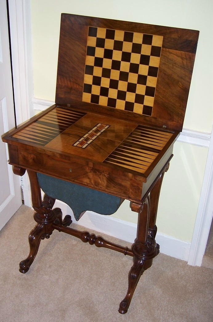 Antique games table sold game card tables pinterest for 10 games in 1 table