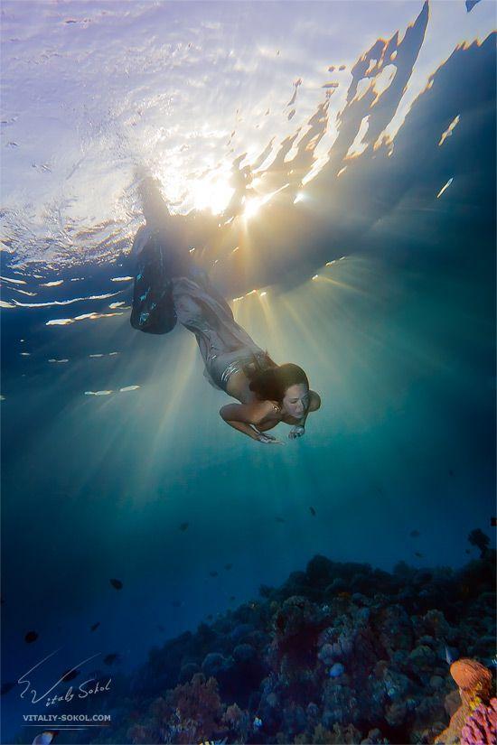 Underwater Dance. Sunrays. by Vitaly-Sokol.deviantart.com: Amazing Photography, Mermaids Dreams, Underwater Dancers, Underwater Photography, Dance Sunday, Snorkeling, Underwater Art