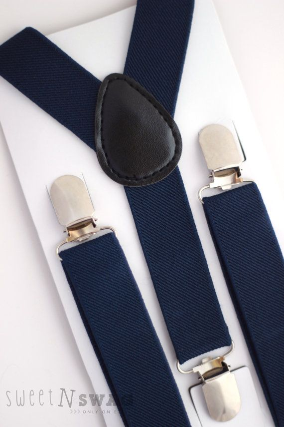NAVY BLUE SUSPENDERS.  Newborn  Adult sizes. by SweetnSwag on Etsy