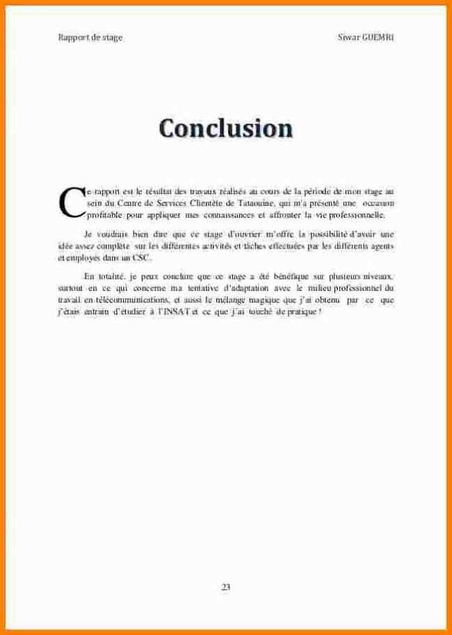 12 Conclusion Rapport De Stage Gouvernoratmaniema En 2020 Exemple De Remerciement Rediger Un Rapport Telecharger Livre Gratuit Pdf