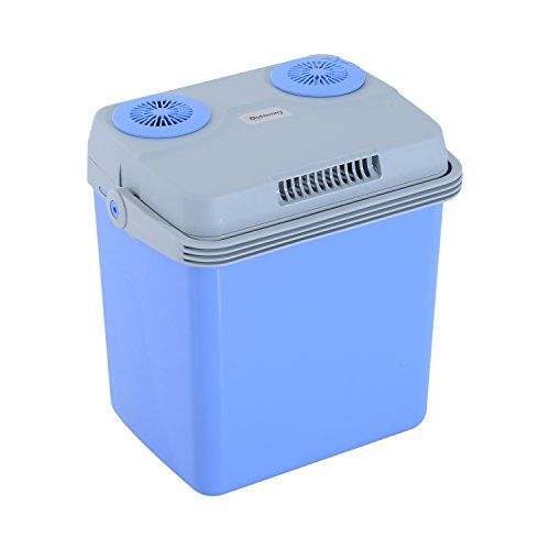 Outsunny 33 Quart 12V AC/DC Thermoelectric Portable Cooler / Warmer w/ Car Adapter - Blue. For product & price info go to:  https://all4hiking.com/products/outsunny-33-quart-12v-acdc-thermoelectric-portable-cooler-warmer-w-car-adapter-blue/