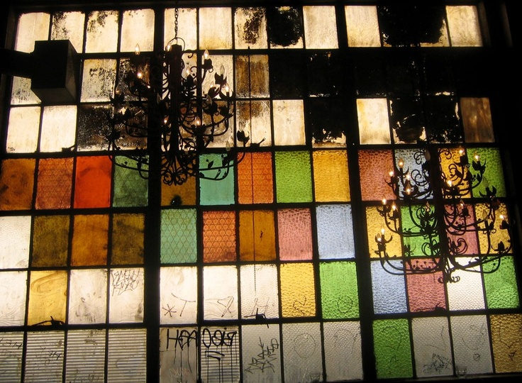 colorful industrial windows