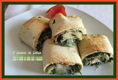 Rotoli di piadina con spinaci crudo e mozzarella è un secondo piatto molto sfizioso e veloce, preparato con prodotti già pronti