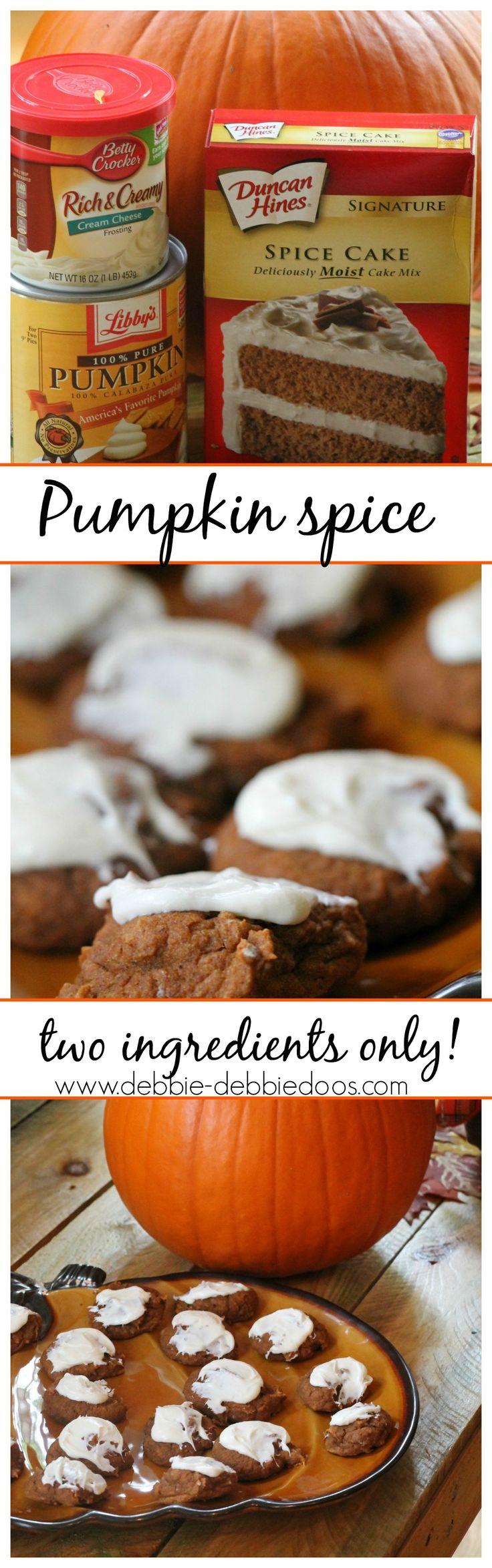 Two ingredient #pumpkin spice cookie recipe