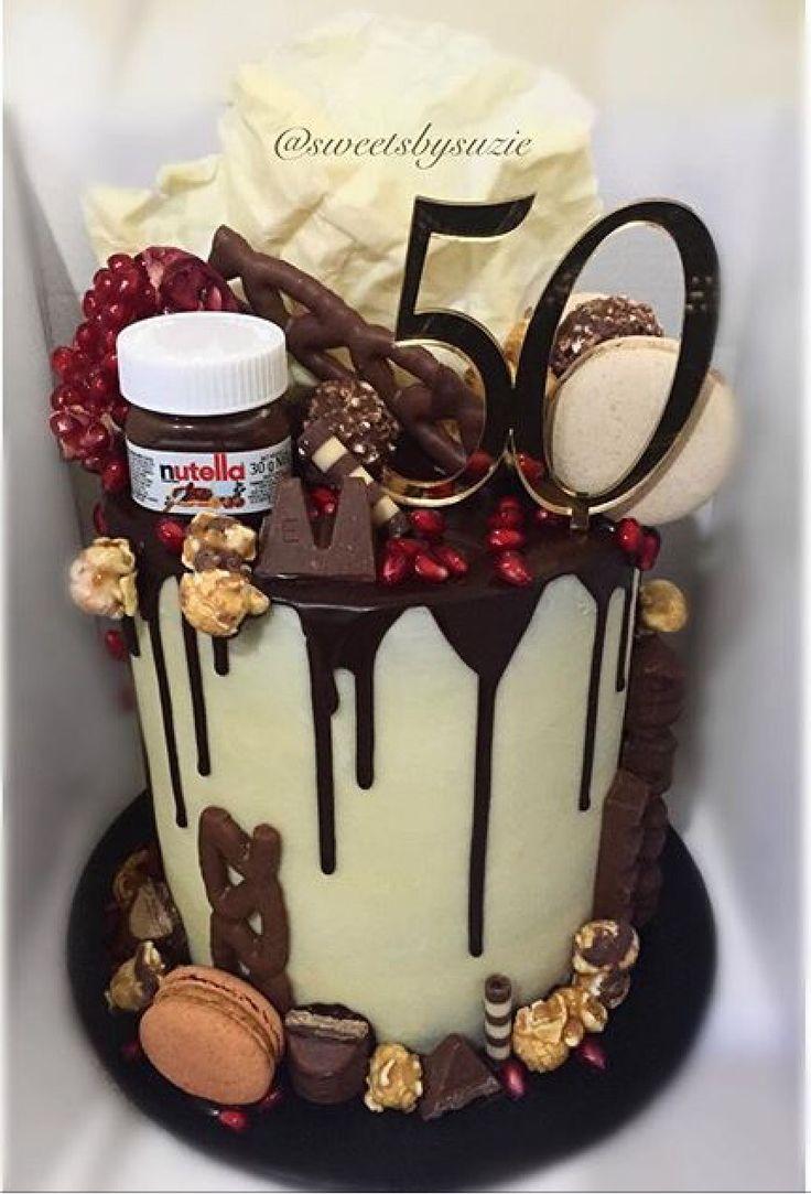 Chocolate Drip 50th Birthday Cake Made By Sweetsbysuzie In