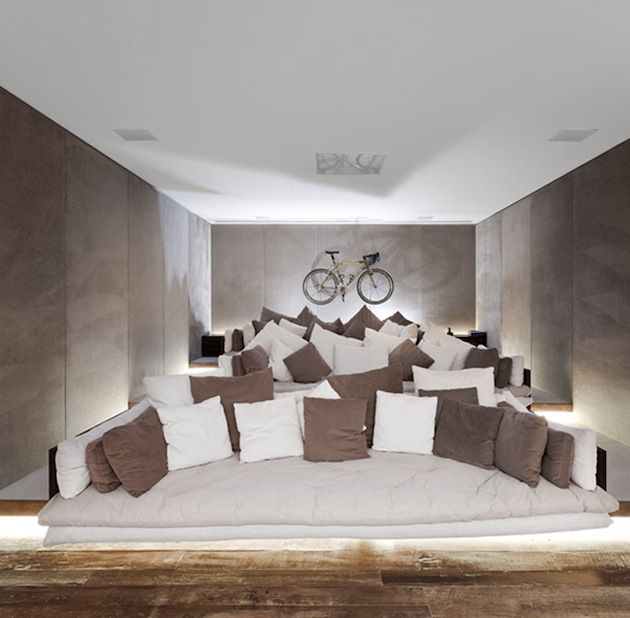 Home Theatre Design Concepts: I Like The Idea Of A Curved, Deep, Yet Low To The Ground