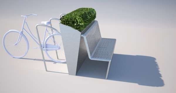 Configurable Public Perches http://www.trendhunter.com/trends/modul-bench-system #streetfurniture