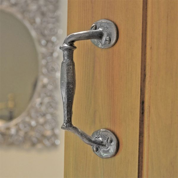 Kirkpatrick 2170 Serpentine Door Pull Handle - Pewter Finish - A high quality, iron pull handle. Unsurpassable British quality, hand forged in a foundry in the West Midlands.