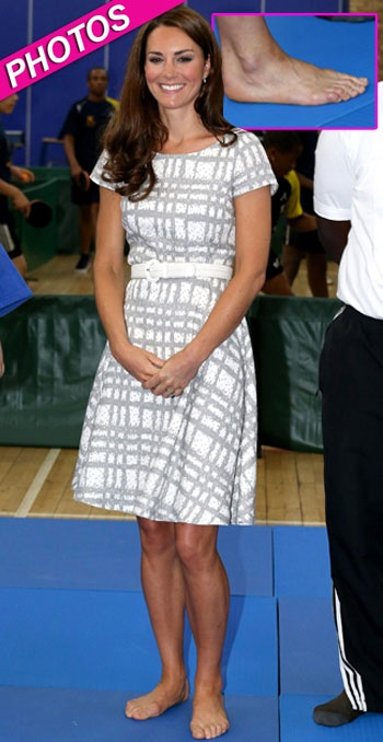 The Princess Needs A Pedicure! Kate Middleton Shows Off Funky Feet | Radar Online