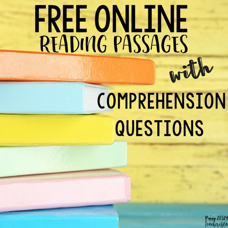 FREE online reading passages with comprehension questions.