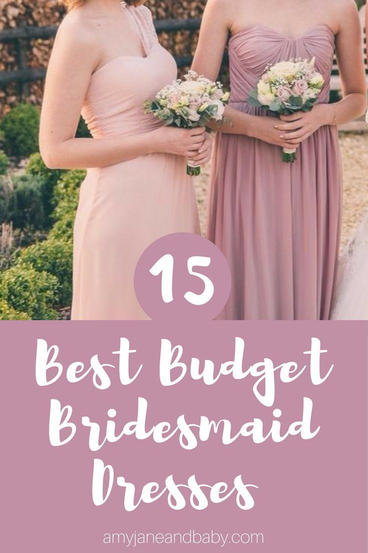 Two women in blush pink bridesmaid dresses. Budget bridesmaid dresses, best bridesmaid dresses, high street bridesmaid dress.