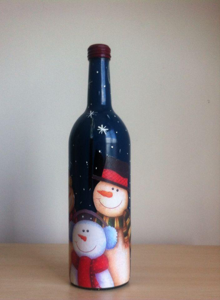 Botella decorada $30.000