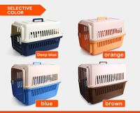 Plastic Pet Flight Crates with Opptional Wheels dog house