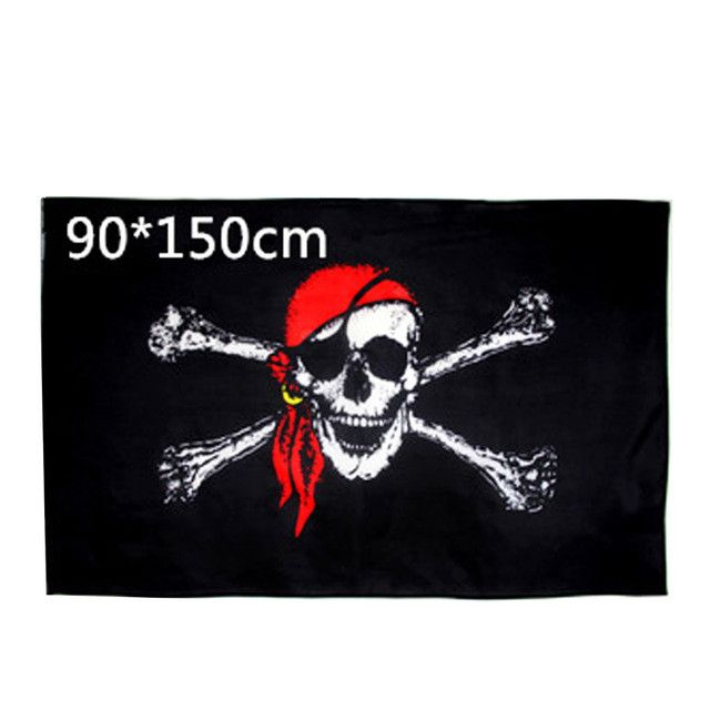 90x150cm Large Skull and Crossbones Pirates Flag Jolly Roger