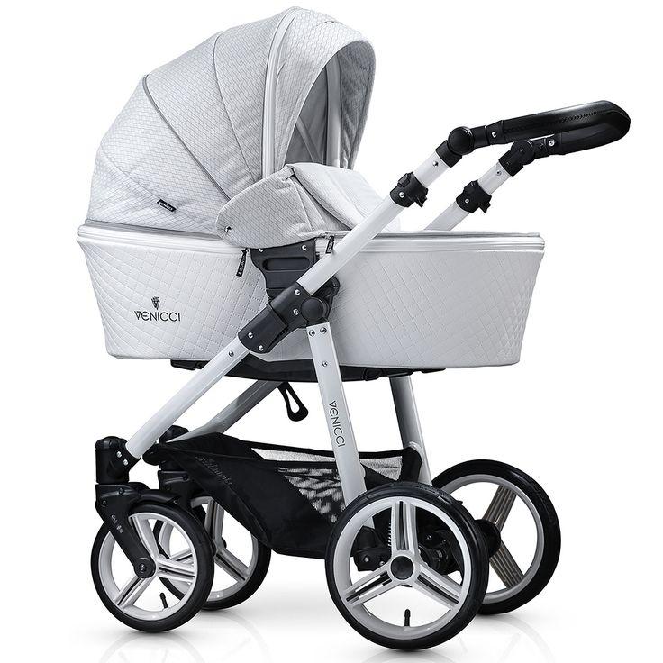 Venicci Mini Travel System (Stone Grey) - White Chassis