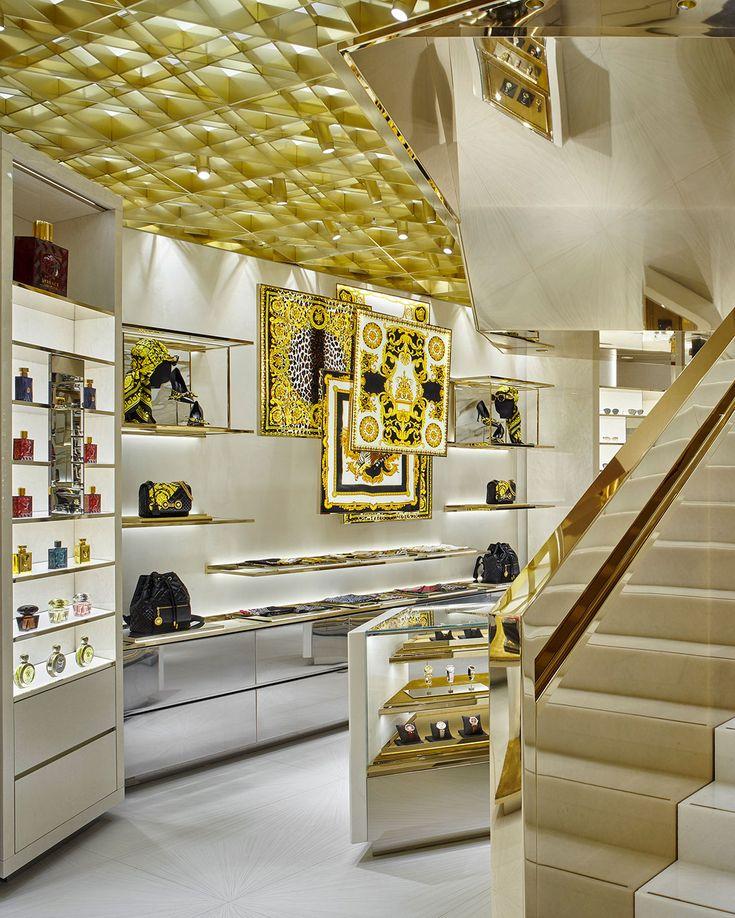 Versace Boutiques Projects Retailers Flos Flos Retail Interior Design Retail Interior