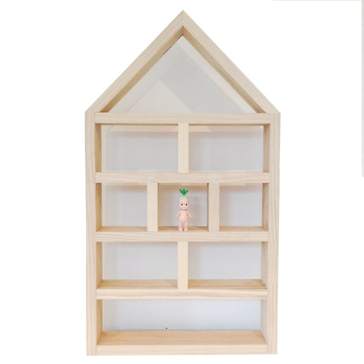 Sonny Angel Display House Handcrafted by RAW Sunshine Coast from environmentally friendly sustainable plantation pine, this adorable timber display house would be and the perfect place to house your collection of Mini Sonny Angel Dolls or other precious trinkets.   Dimensions: 71cm high x 40cm wide x 8cm deep  Fixing: Two picture hooks at rear for hanging or can stand freely on a flat surface  Materials: Sustainable plantation pine  Finish: Raw timber