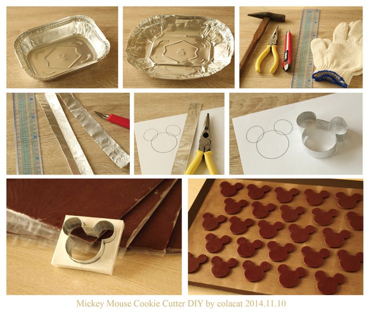 Mickey Mouse cookie cutter DIY Copyright (c) Colacat