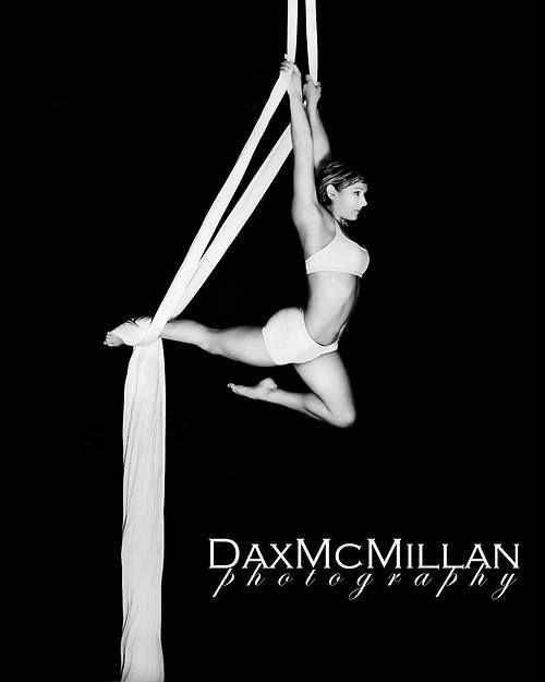 Stanzie Langtree on aerial silks.