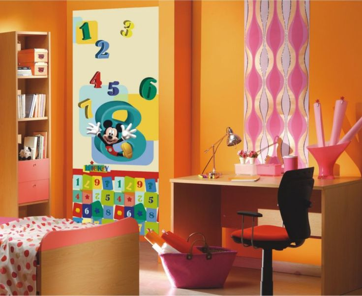 Mickey Mouse Kids Mural By WallandMore. Can Be Applied Both On The Door And  Wall Part 65