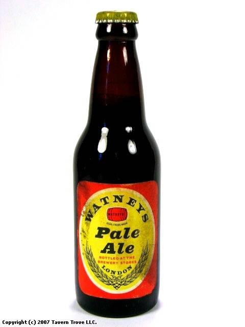 Bottles: Paper Label Watneys Pale Ale Watney Mann Stag Brewery Mortlake London England