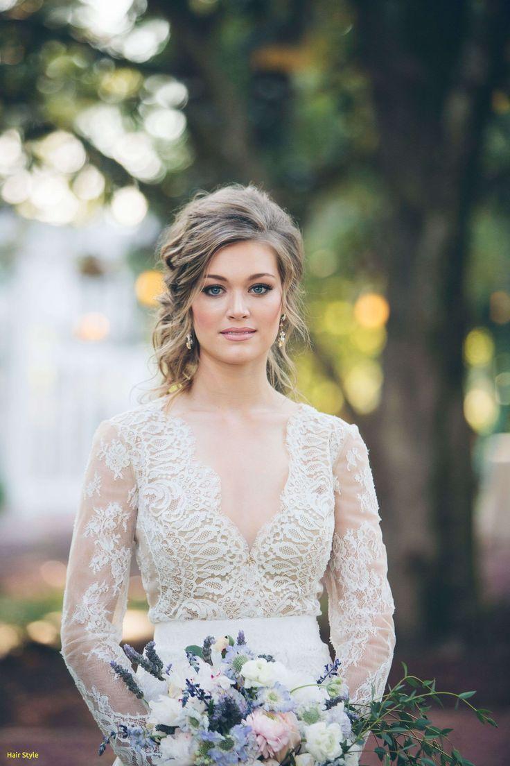 Elegante Hochzeitstag Haare Und Make Up Kosten Elegante Haare Halboffen Hochzeitstag K Vintage Wedding Hair Wedding Dress Long Sleeve Retro Wedding Hair