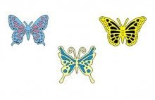 Cheery Lynn Design Dies Exotic Butterflies SM 1 with Angel Wings - DL112AB