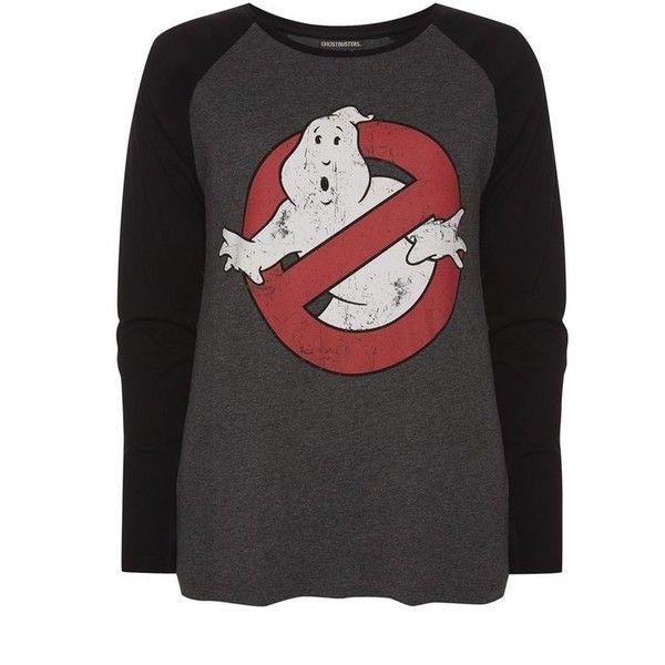 Ghostbusters Raglan T-Shirt ❤ liked on Polyvore featuring tops, t-shirts, raglan sleeve top, raglan t shirt, raglan tee, raglan top and raglan sleeve t shirts