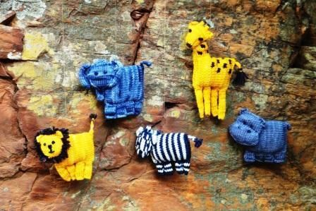 African Animal Baby Mobile