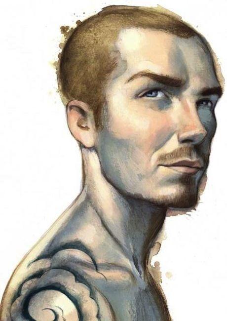 David Beckham, by Fernando Vicente