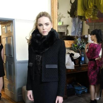 Snood featured in the Helen McAlinden AW 2012 fashion show, Dublin.