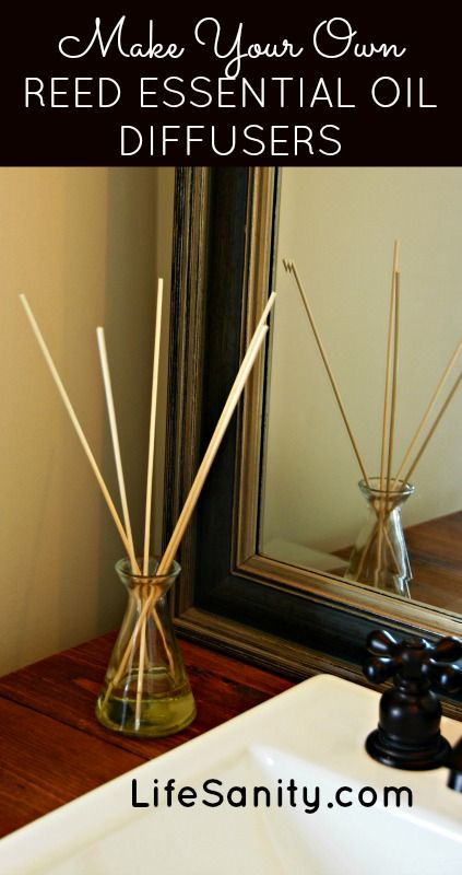 Make Your Own Reed Essential Oil Diffusers | Life Sanity