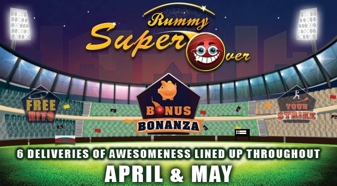 RummyCircle have huge plans for IPL 2016. They have announced a set of promotions named Rummy Super Over starting with a rummy bonus named Bonus Bonanza. If you have a Rummy Circle account, login on 22nd April and make a deposit to get 15% bonus up to Rs.1500.