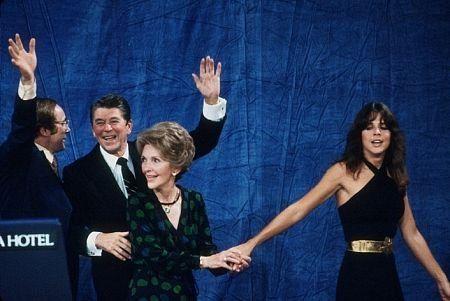 Ronald Reagan with Nancy and Patti Reagan at the Century Plaza Hotel C. 1980