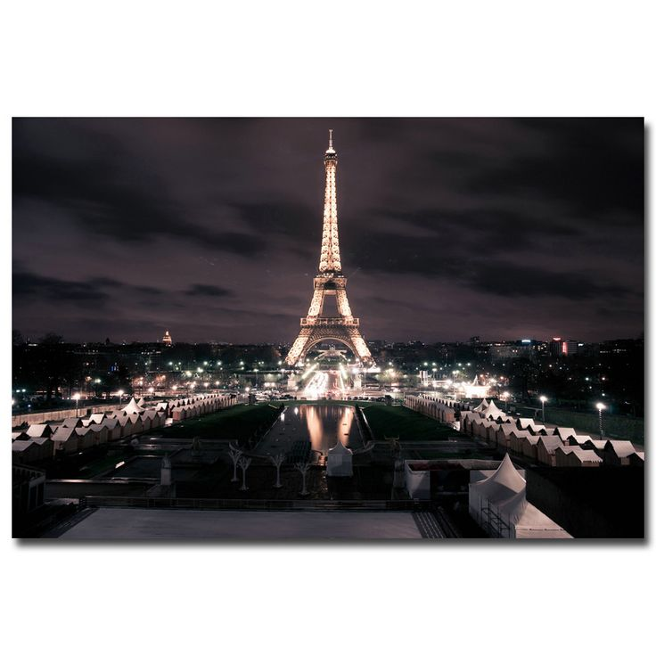 Эйфелева башня City Night Citycape Art Silk Плакат печати 12x18 20x30 24x36 дюймов Современная Гостиная Декор 12  http://ali.pub/4xive