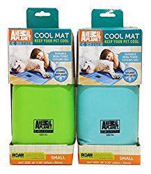 ANIMAL PLANET Small 16″ x 20″ Assorted Colors Indoor Self Cooling Pet Cool Mat, Blue/Green
