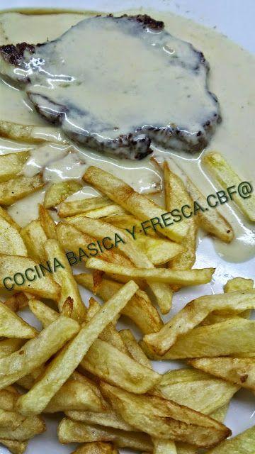 Cocina Basica y Fresca: SLOMILLO DE TERNERA AL QUESO AZUL VIEJO CBF