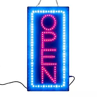 BRAND NEW HIGH QUALITY LED OPEN SIGN BOARD+On/Off Switch Bright Light neon #Affiliate