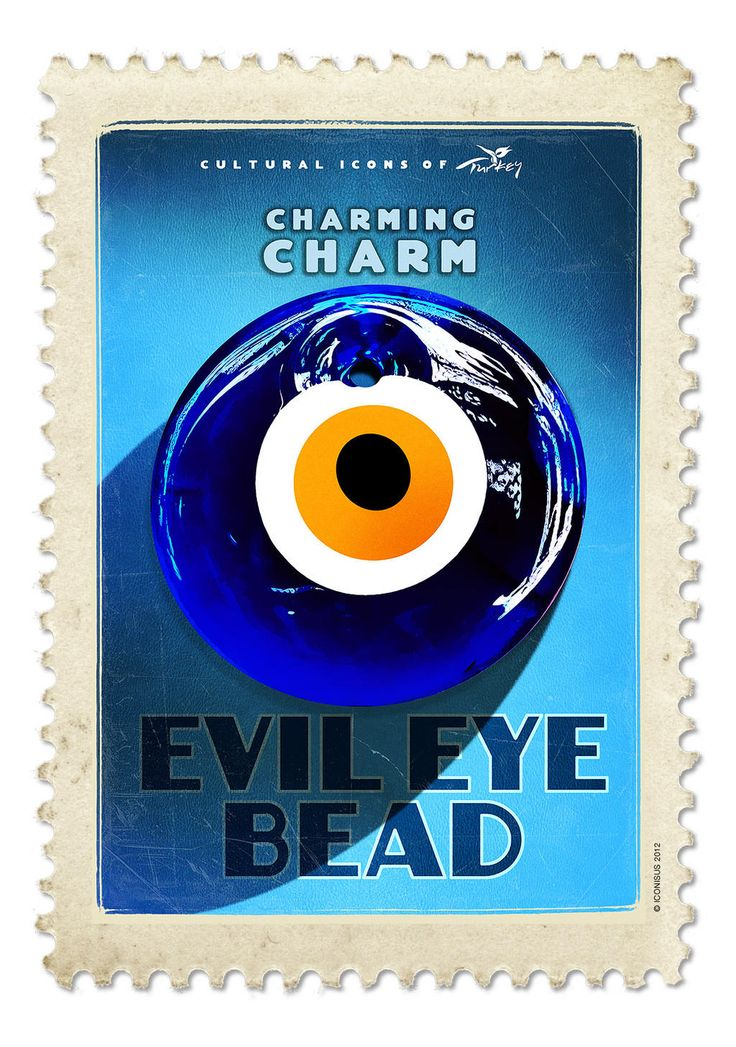 Evil Eye Bead, Cultural Icons of Turkey by @emrahyucel