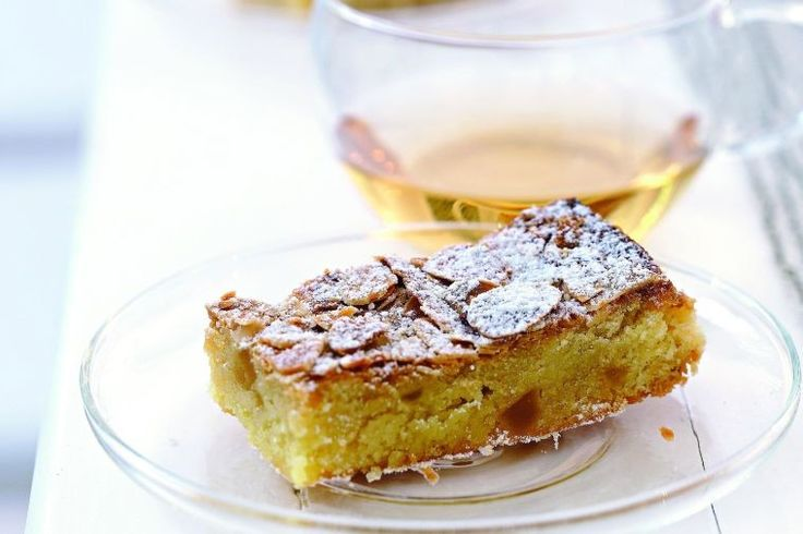 Ginger and almond slice