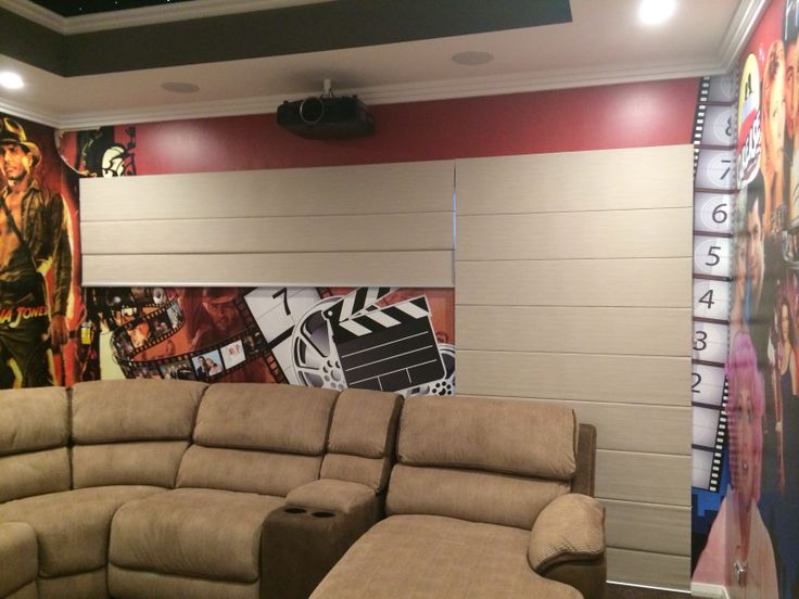 Home theatre custom made mural