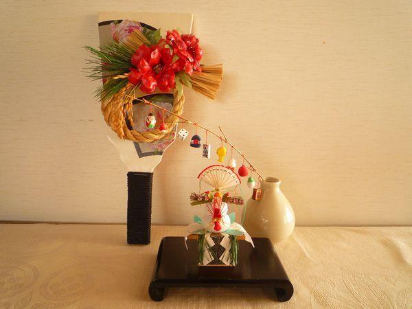 """お正月飾りを作ります : 東京デコパージュ、ソスペーゾトラスパレンテ教室""""Le Chat Noir""""(ル シャ ノワール)"""