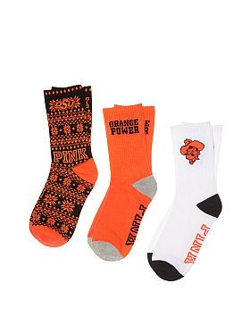 Oklahoma State University 3-Pack Crew Socks
