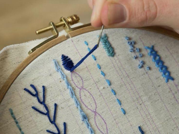 DIY tutorial: Embroidery Stitches for Beginners  via DaWanda.com