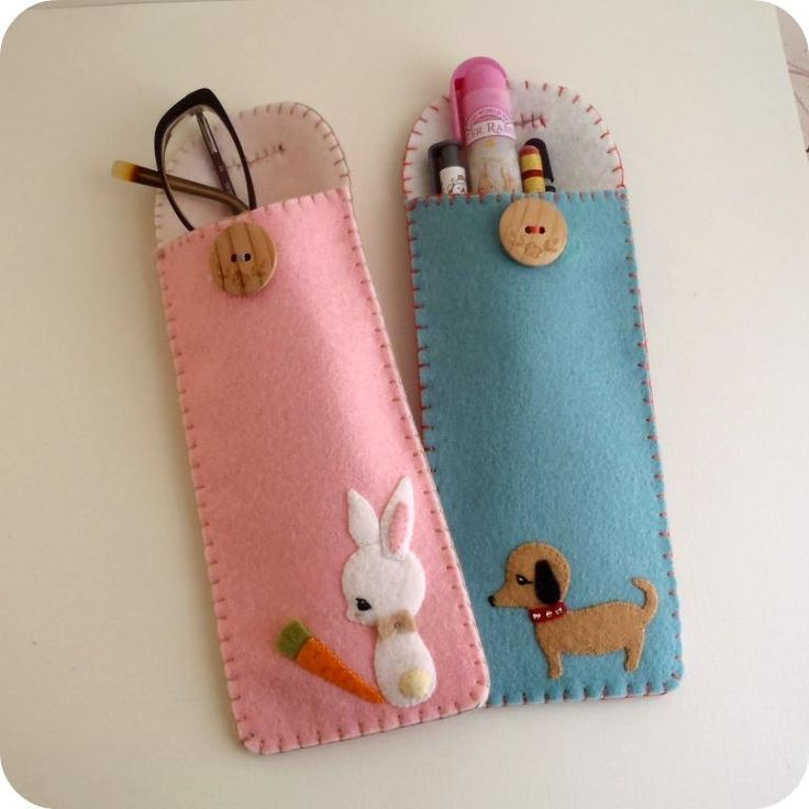 """This free sewing pattern is the """"Pencil Glasses Case"""". Thanks to Craftsy for posting it."""