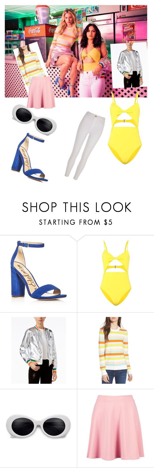 """""""Riverdale"""" by maiajordan ❤ liked on Polyvore featuring Sam Edelman, Mara Hoffman, ban.do, Rebecca Minkoff, Boohoo and River Island"""