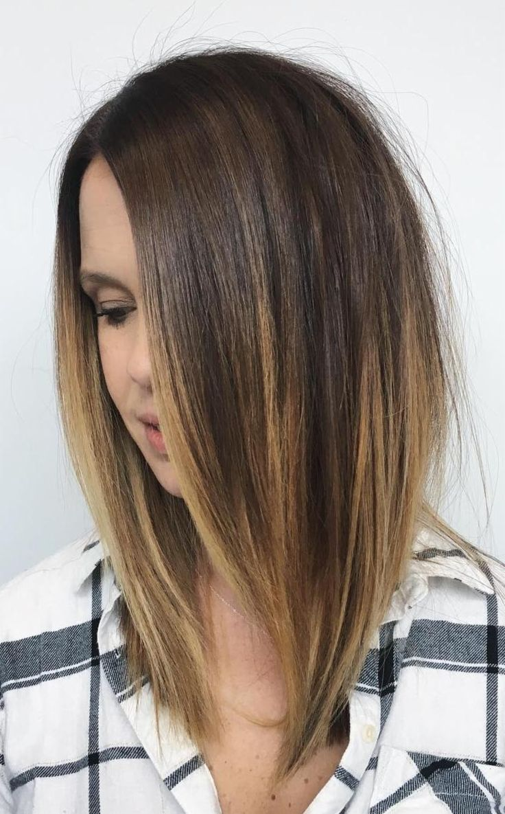 Aveda Artist Aimee Sanchez created this gorgeous blunt haircut with soft highlights for a guest leaving to go on a trip to Mexico.