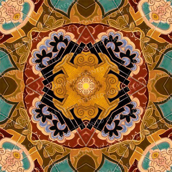 Ceramic transfer Art Nouveau, size 10 x 10cm (3.94 x 3.94 inch), firing temperature 1400-1562 ºF, ceramic decal tile, ceramic decal, decal door StainedGlassElements op Etsy