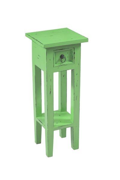 Stolik BALLYMENA z szufladką antyczna zieleń, Miloo Home - Meble